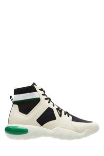 Черно-белые хайтопы с зелеными акцентами Fendi