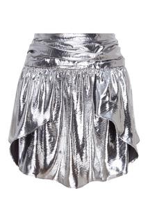 Серебристая юбка Isabel Marant