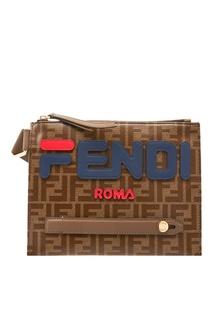 Плоская сумка-мессенджер с монограммами FF Fendi