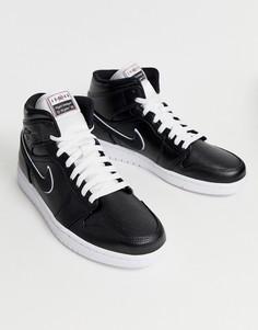 Черные кроссовки средней высоты Nike Air Jordan - Черный