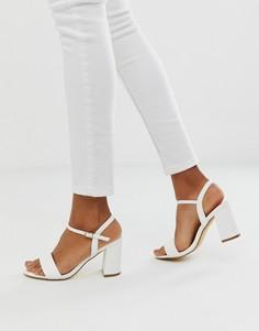 Босоножки на блочном каблуке OFFICE - Белый