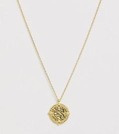 Ожерелье с подвеской-медальоном из позолоченного серебра Kingsley Ryan - Золотой