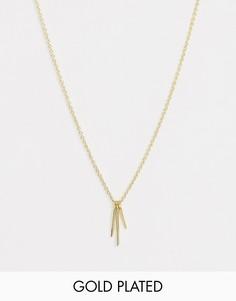 Короткое позолоченное ожерелье Gorjana Josey - Золотой