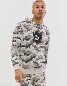 Худи с камуфляжным принтом Puma Wild Pack - Серый