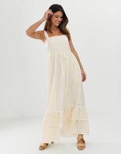 Ярусное платье макси в полоску Y.A.S - Мульти