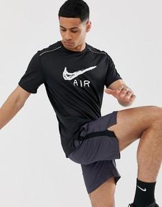 Черная футболка с логотипом Nike Running Miler - Черный