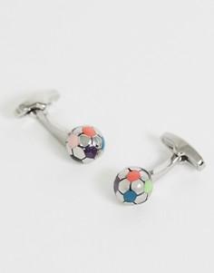 Серебристые запонки в виде футбольных мячей Paul Smith - Серебряный