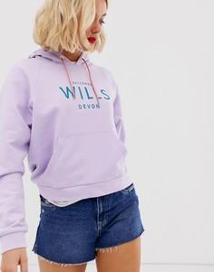 Худи с логотипом и рукавами реглан Jack Wills - Romsey - Фиолетовый
