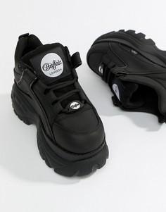 Черные низкие кроссовки на платформе Buffalo London - Черный