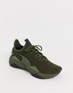 Зеленые кроссовки Puma - Зеленый