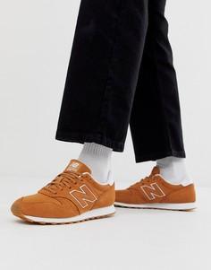Коричневые кроссовки New Balance 373 - Коричневый
