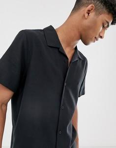 Черная рубашка Weekday - Черный
