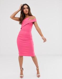Платье-футляр миди Vesper - Розовый