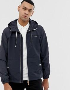 Легкая темно-синяя куртка в стиле колор блок с капюшоном Esprit - Синий