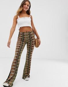 Расклешенные брюки с принтом Raga - Коричневый