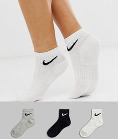824c9013 Набор из 3 пар носков черного, белого и серого цвета Nike - Мульти