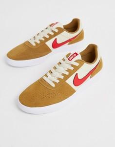 Бежевые кроссовки Nike SB Team - Бежевый