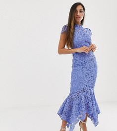 Синее кружевное платье макси с годе Forever New Petite - Синий