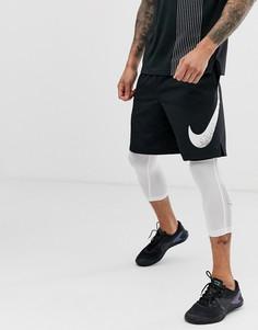 7089994f Черные шорты с логотипом-галочкой Nike Training - flex 2.0 - Черный