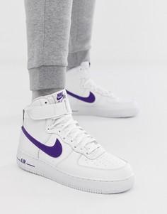 Белые кроссовки Nike Air Force 1 High 07 3 AT4141-103 - Белый