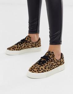 Кроссовки с леопардовым принтом adidas Originals Outloud - Samba Rose - Черный