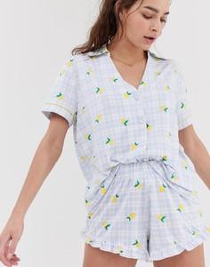47ae96ca5dabe Купить женскую пижаму в клетку - цены на пижамы в клетку на сайте ...