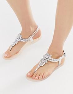 Резиновые сандалии с отделкой Miss KG - Бежевый