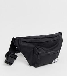 Черная сумка-кошелек на пояс с однотонной молнией Hershel Supply Co Seventeen - Черный Herschel
