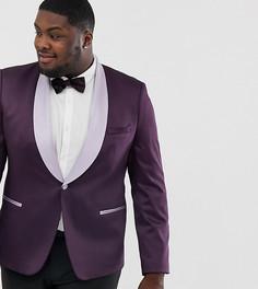 Фиолетовый атласный блейзер приталенного кроя ASOS DESIGN Plus Wedding - Фиолетовый