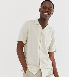 Светло-бежевая вискозная рубашка классического кроя ASOS DESIGN Tall - Кремовый