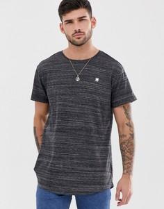 Черная меланжевая футболка G-Star Starkon - Черный