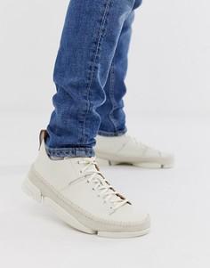 Белые кожаные кроссовки Clarks Originals Trigenic Flex - Белый