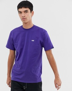 Фиолетовая футболка с маленьким логотипом Vans - Фиолетовый
