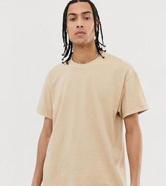 Свободная футболка бежевого цвета Reclaimed Vintage - Бежевый