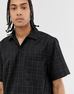 Черная рубашка в клетку Weekday - Черный