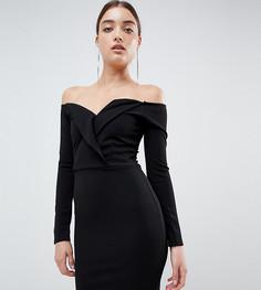 Платье мини с открытыми плечами Missguided - Черный