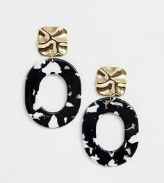 Золотистые серьги-кольца Reclaimed Vintage inspired - Золотой