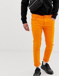Ярко-оранжевые джинсы скинни ASOS DESIGN - Зеленый