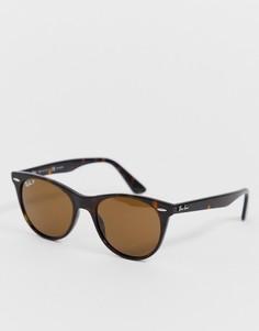 Круглые солнцезащитные очки с поляризованными стеклами Ray-Ban 0RB2185 - Коричневый