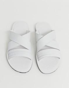 Белые шлепанцы с перекрестными ремешками Aldo - Белый