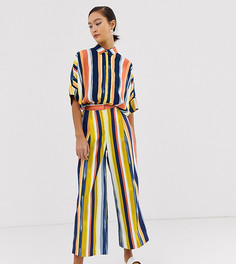 Monki co-ord cropped wide leg trousers in multi stripe - Мульти
