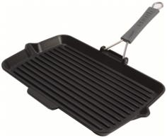 Чугунные сковороды Staub сковорода для гриля с силиконовой ручкой 34х21 см