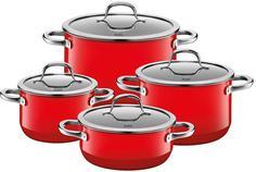 Наборы посуды из нержавеющей стали Silit Passion Colours Набор кастрюль 4пр. Passion Red