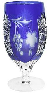 Стаканы для воды Ajka Crystal Grape Grape Cobalt blue фужер 450 мл