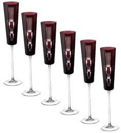 Наборы бокалов для шампанского Ajka Crystal Retro Amethyst набор фужеров для шампанского 110 мл аметист