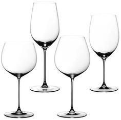 Наборы бокалов для красного вина Riedel Veritas - Набор фужеров 4 шт. Tasting set(6449/0, 6449/15, 6449/97, 6449/07) хрусталь 5449/47