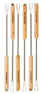 Прочее LE CREUSET Набор вилок 6шт. для фондю, корроз/сталь, с дерев. ручками