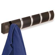 Вешалки и крючки Umbra Вешалка настенная горизонтальная Flip 5 крючков эспрессо