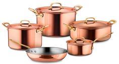 Наборы посуды из меди RUFFONI Gustibus Набор посуды из 5-ти предметов, медь с нержавеющим покрытием