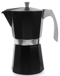 Гейзерные кофеварки IBILI Evva Кофеварка гейзерная на 12 чашек, цвет черный, для всех типов плит, литой алюминий